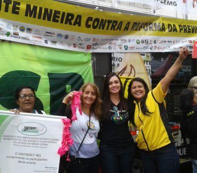 FENATIBREF participa de ato contra a PEC 287 que retira direitos dos trabalhadores
